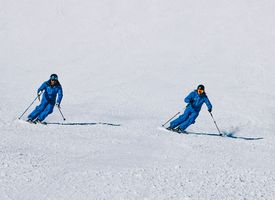 Ski technique training for adults