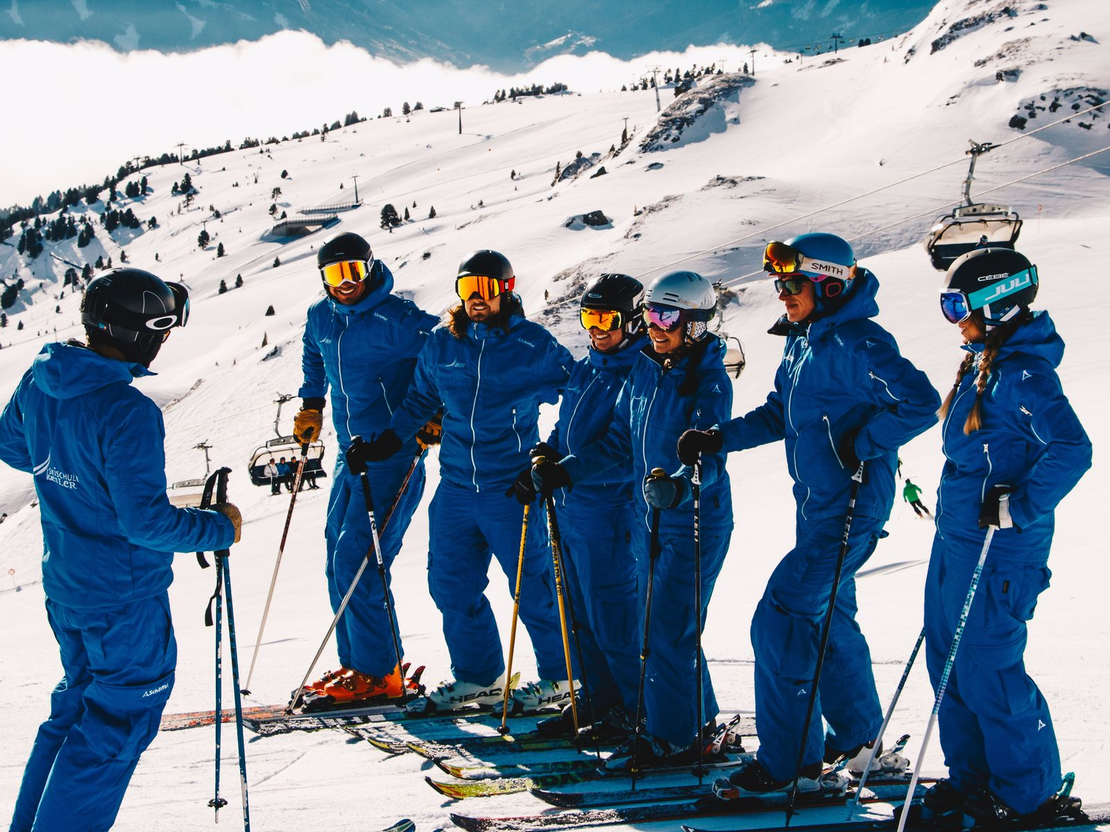 Ski instructors of Skischule Keiler in the Zillertal